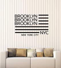 New York Yankees Wall City Decal Sticker Logo Design Knicks Skyline Silhouette Themed Rangers Vamosrayos