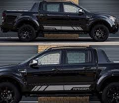 Product Decal Sticker Graphic Side Stripe Kit For Ford Ranger T6 Wildtrak Grill Door Xlt