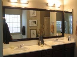 long black wooden frame wall mirror