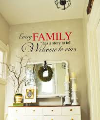 Every Family Has A Stor To Tell Welcome To Ours Family Vinyl Wall Decal Entryway Vinyl Lettering 39 Colors