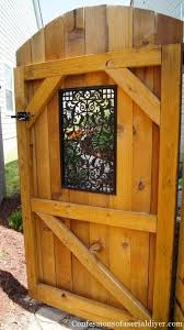 How To Build A Gate With A Window Building A Gate Backyard Garden Gates