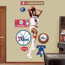 Fathead Julius Erving Philadelphea 76ers Wall Sticker Outlet With Images Julius Erving 76ers Philadelphia 76ers