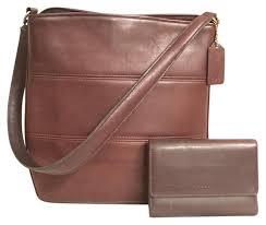 vintage 9083 brown leather shoulder bag
