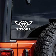 Amazon Com Vool Toyoda Yoda Vinyl Car Decal Sticker White 5 Automotive