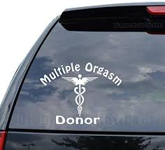 Amazon Com Funny Orgasm Donor Md Decal Sticker Car Truck Motorcycle Window Ipad Laptop Wall Decor Size 11 Inch 28 Cm Wide Color Matte Black Home Kitchen