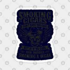 cigar smoking skull cigar smoker gift
