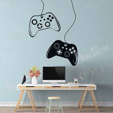 Gamer Wall Decal Eat Sleep Game Controller Wall Art For Kids Bedroom