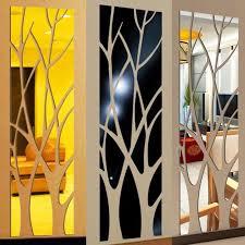 Modern Acrylic Mirror Wall Sticker Removable Decal Art Mural Wall Sticker Home Room Diy Decor Tree Modern Wall Decals Modern Wall Stickers From Highqualit01 20 09 Dhgate Com