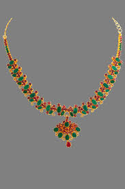 gold ruby emerald necklace from