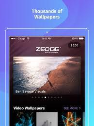 zedge wallpapers on the app