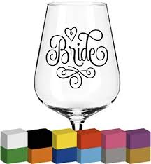 Amazon Com Cliffbennett Bride Word Vinyl For Glass Decal Sticker Graphic Gift For Wedding Gift For Her Wedding Role Bride Decal Glass Sticker Home Kitchen