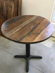reclaimed round dining table or coffee