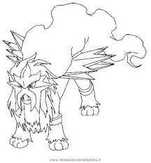 Pokemon Coloring Pages Entei Pokemon Coloring Pages Kleurplaten
