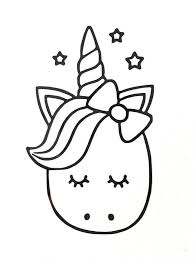 Unicorn Face Coloring Page Youngandtae Com In 2020 Unicorn Coloring Pages Unicorn Drawing Cute Coloring Pages