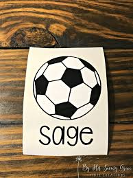 Soccer Ball Name Decal Sports Car Decal Baseball Mom Etsy Bottle Decals Water Bottle Decal Yeti Decals