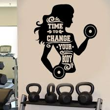 Home Living Wall Decal Sticker Bedroom Motivation Workout Gym Fitness Sport 16m Wall Decor Wall Decor Home Living