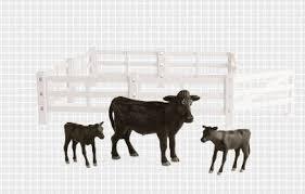 1 16 big farm fence animal set cows