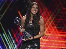 Alex Morgan, US Women's Soccer Team Honored at The ESPYS | Voice of America  - English