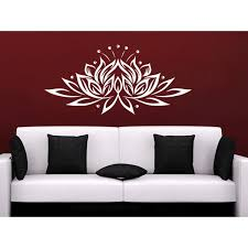 Shop Namaste Lotus Flower Indian Ornament Moroccan Wall Art Sticker Decal White Overstock 11948031