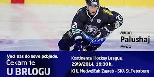 """Aaron Palushaj on Twitter: """"Big game tomorrow night.. Excited to hear those  passionate fans cheer on @KHL_MedvescakZG #TogetherWeAre  http://t.co/qTNOKHeeTf"""""""