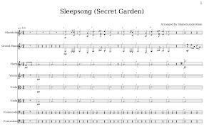 sleepsong secret garden flat