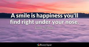 tom wilson a smile is happiness you ll right under