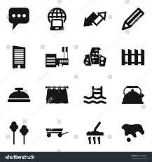 16 Vector Icon Set Message Notebook Stock Vector Royalty Free 739305976