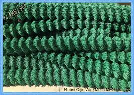 6 Gauge Pvc Coated Chain Link Fence Wire Diameter 1 6m 5 Mm Quick To Install
