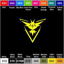Team Instinct Symbol Car Window Laptop Vinyl Decal Sticker Pokemon Pokemon Go Ebay