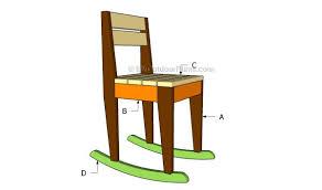 kids rocking chair plans