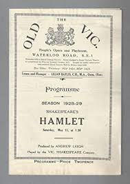 "John Laurie""HAMLET"" Esme Church/Torin Thatcher/Adele Dixon 1929 London Old  Vic Playbill at Amazon's Entertainment Collectibles Store"