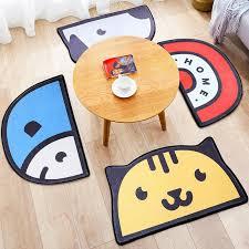 50cm 80cm Semicircle Cartoon Cute Kids Room Mats Doormats Home Kitchen Rugs Bedroom Door Anti Slip Water Absorbent Floor Mat Shaw Carpet Colors Commercial Flooring Installation From Fahome 12 54 Dhgate Com