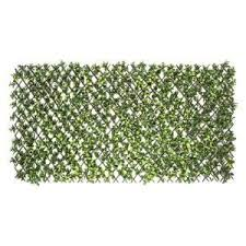 Greensmart Decor 40 In X 80 In Artificial Lemon Leaf Lattice Screen Mz 4126 The Home Depot In 2020 Artificial Foliage Garden Trellis Trellis