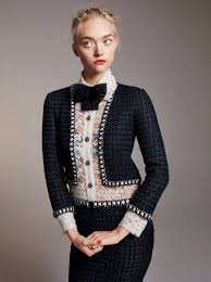 gemma ward wows in chanel makeup looks