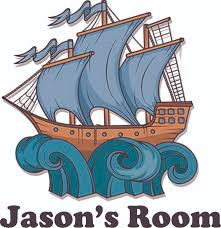 Pirate Ship On Waves Personalized Name Custom Names Pirate Ship Wall Decals Boys Room Pirates Ships Kids Decor Sticker Room Decoration For Bedrooms Stickers Sticker Boy Designs Size 20x20 Inch