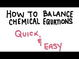 how to balance a chemical equation easy