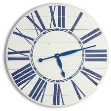 navy nautical oversized wall clock 30