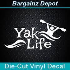 Vinyl Decal Yak Life Kayak Kayaking River Paddling Boat Car Laptop Sticker Ebay