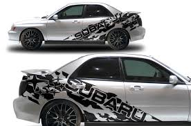 Subaru Wrx 2002 2007 Custom Vinyl Decal Side Wrap Kit Subaru Splas Factory Crafts