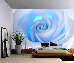 Blue Rose Large Wall Mural Self Adhesive Vinyl Wallpaper Peel Stick Fabric Wall Decal Large Wall Murals Fabric Wall Decals Vinyl Wallpaper