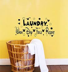 Amazon Com Best Design Amazing Disney Decor Disney Decals Laundry Room Decor Wash Dry Fold Repeat Mickey Laundry Sign Disney Signs Disney Wall Quotes Laundry Room Decals Made In Usa Kitchen Dining