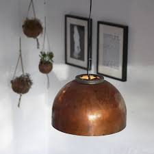 boiler light copper pendant lamp by