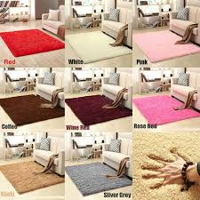 Airyclub Silky Antiskid Bedroom Home Decor Shaggy Kids Room Soft Faux Fluffy Mat Area Rug Carpet Floor Rugs