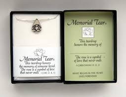 memorial tear pendant a symbol that
