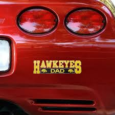 Iowa Hawkeyes Dad Car Decal