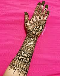 Indian Full Hand Mehndi Design Photos