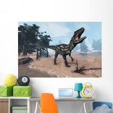 Allosaurus Dinosaur Roaring 3d Wall Decal Wallmonkeys Com