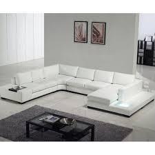 modern leather u shaped sofa set for