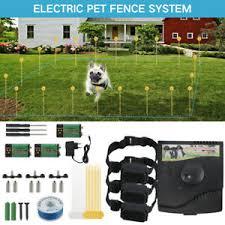 Underground 1 2 3 Dog Shock Collar Electric Pet Fence Fencing System Kit 300m Ebay