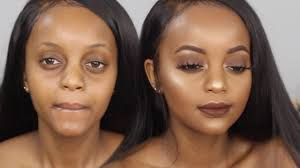 neutral makeup tutorial darkskin